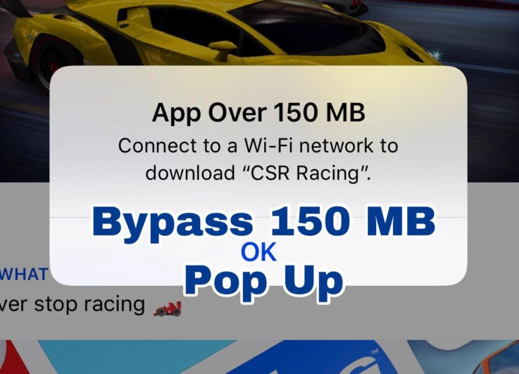 How to Download games over 150 MB without wifi on iPhone