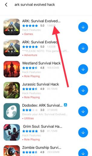 Hack Ark Survival iOS