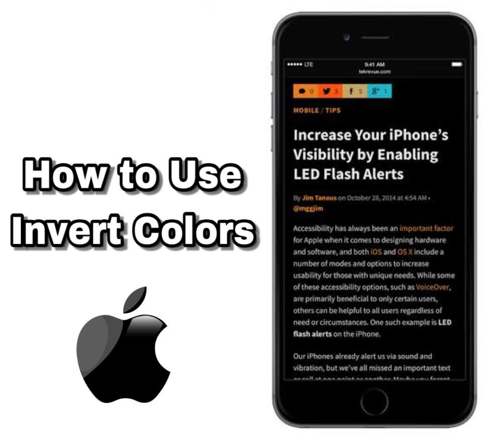How to use invert colors on iPhone