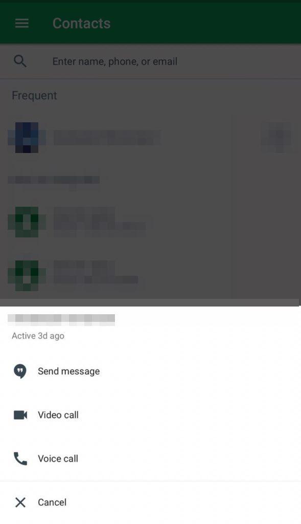 Use Google Hangouts on iPhone