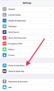 Stop automatic apps update on iPhone