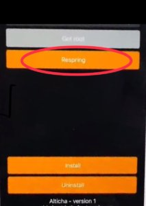 Respring the device to install tweak