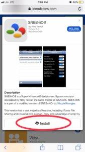 Install snes4iios on iOS 12