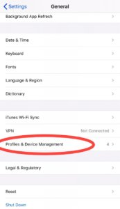 Profiles and device management