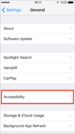 Accessibility settings on iphone ios 12