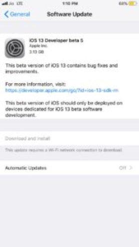 Download iOS 13 beta 5