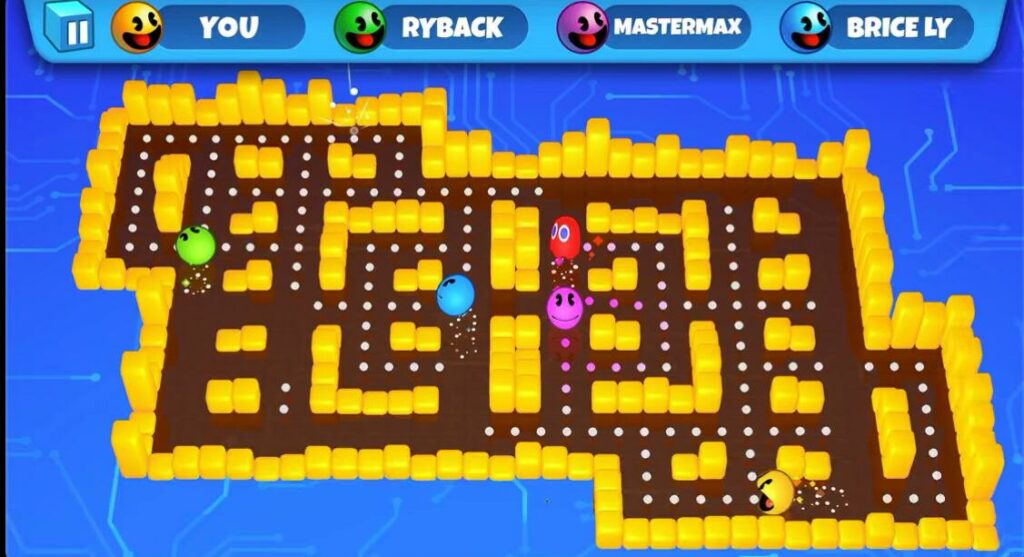 Multiplayer apple arcade game- Pac-man party royale