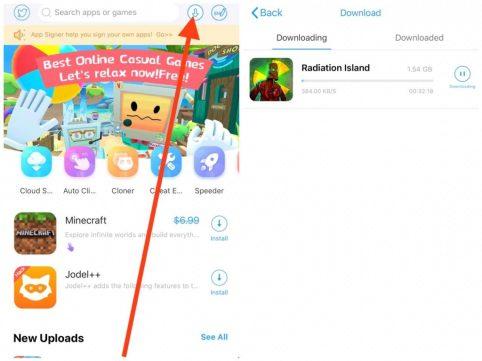 Downloading radiation island free iOS