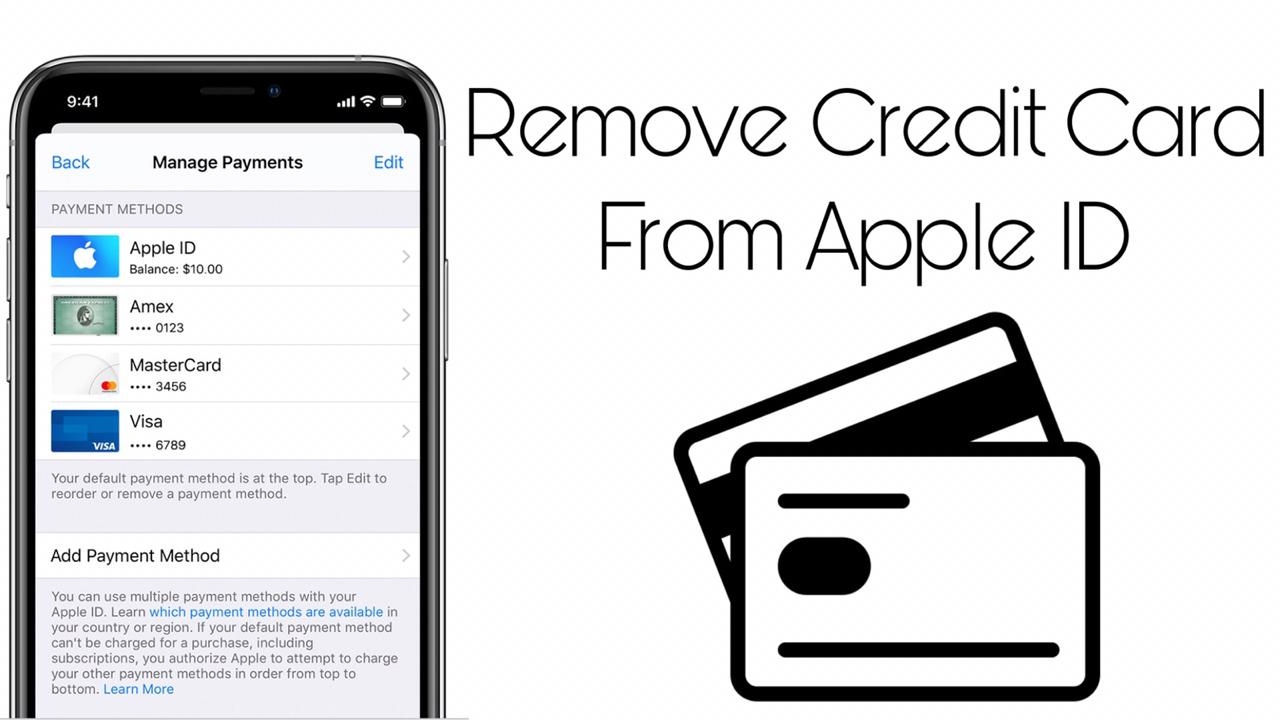 How to Remove Credit card from Apple ID