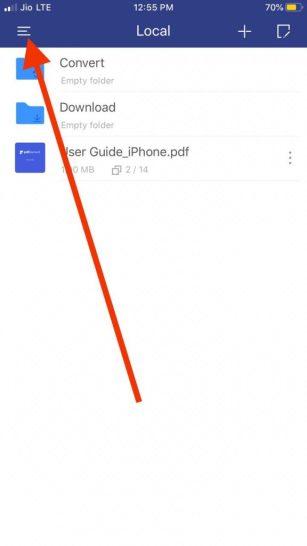 Menu PDF Element