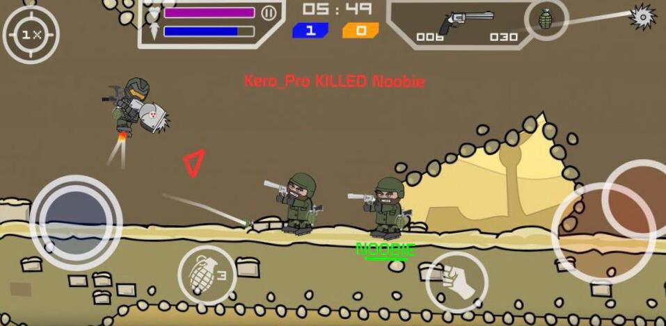 Mini Militia play with friends on iPhone