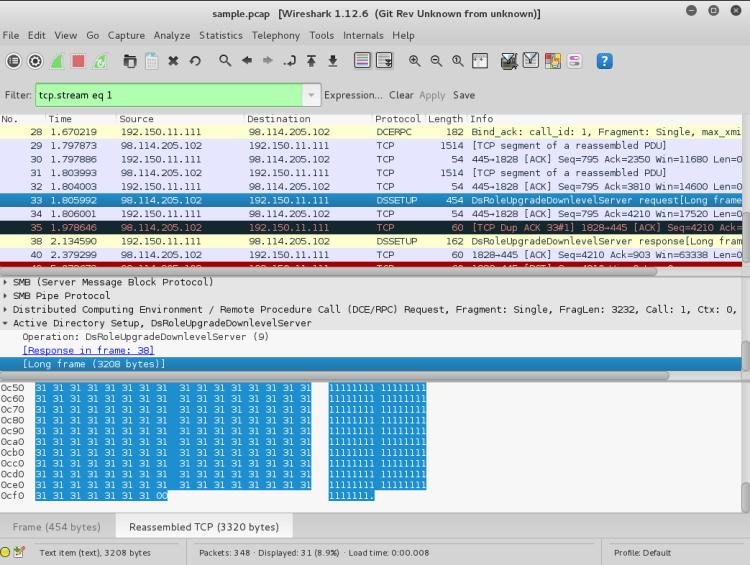 Wireshark TCP Stream