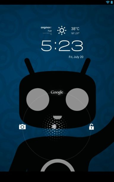 CyanogenMod 10 for Nexus 7