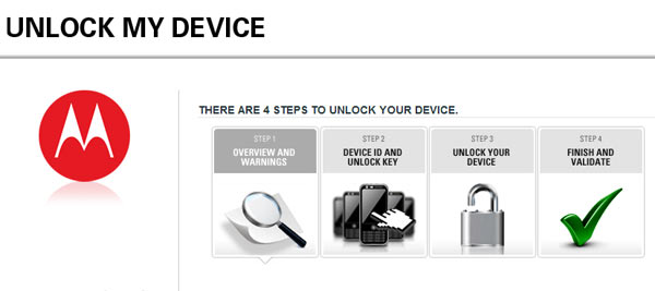 Unlock Motorola Devices Bootloader via the Official Page