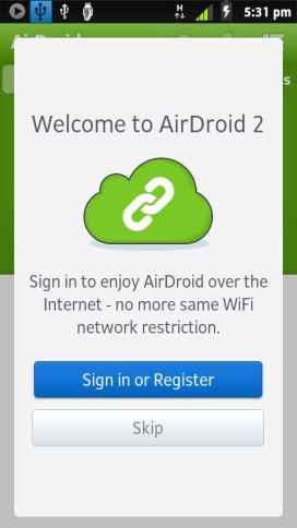 AirDroid register