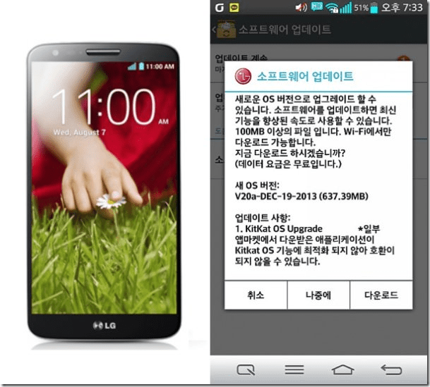 LG G2 Android 4.4 Update