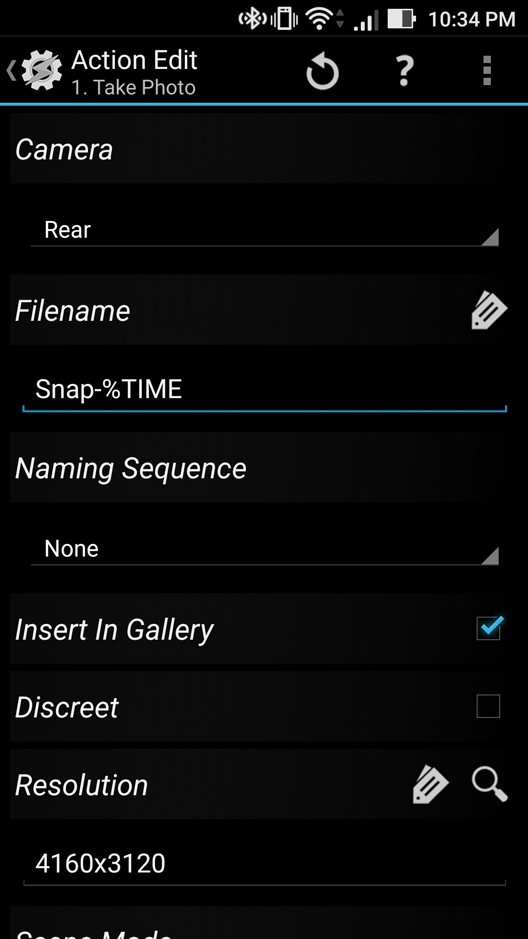 TASKER] Snap a photo with one tap