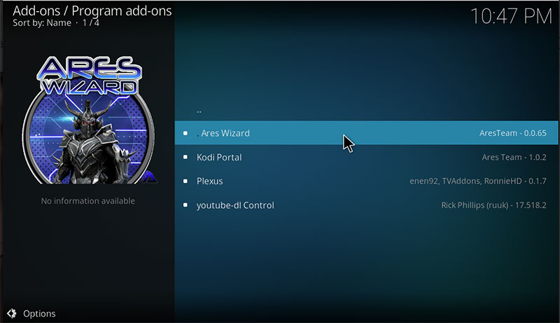 Ares-Wizard-Program-Addons