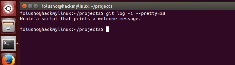 """Step 4.1 - How to read previous Git commit messages - You can get more concise output from """"git log"""" using the --pretty=%B argument."""