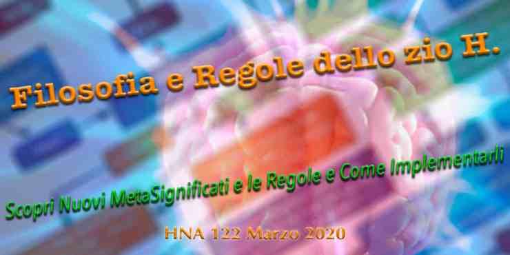 HNA122Mar2020 Filosofia, Sistemi di Pensiero, Modelli del Mondo, Punti di Vista, Convinzioni, Valori, Significati, Regole, Principi e Algoritimi