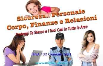 HNA132Gen2021 Sicurezza Protezione Personale Fisica Finanziaria Relazionale Transpersonale Truffe Imbrogli Inganni Finanze Salute Resilienza Antifragilità Miglioramento