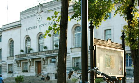 Hackney Town Hall. Photograph: Hackney Citizen
