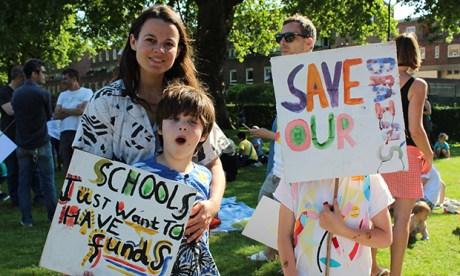 Schools cuts protest
