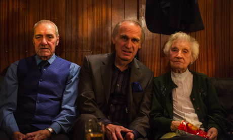 Fred Jeffryes, Keith Riches and Alices Riches (l-r). Photograph: Gabriel Gauffre