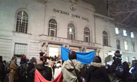 Children protest SEND changes outside Hackney Town Hall