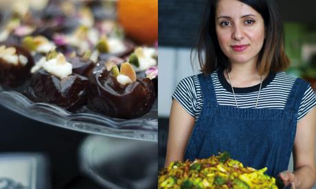 Persian version: Saffron potato kookoo from Zardosht at Cafe OTO. Photograph: Helena Smith