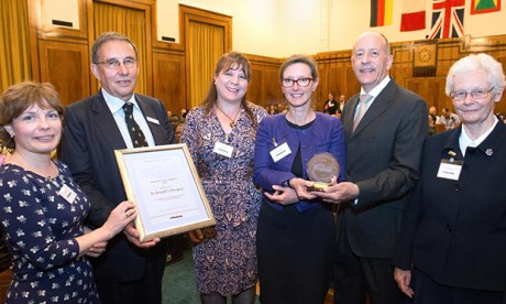 St joseph's hospice mayor's civic award