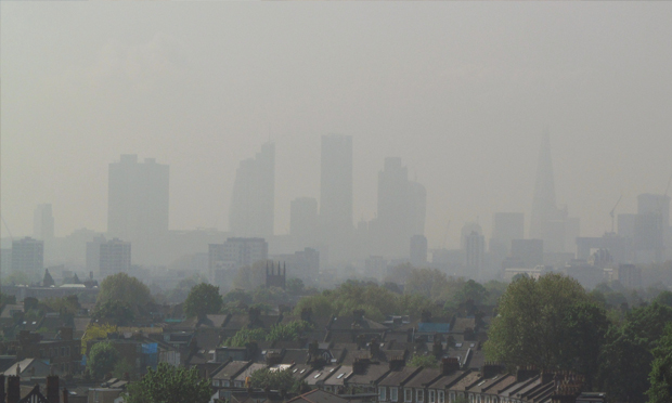 Smog: Residents of deprived areas such as Hackney tend to be more exposed to air pollution. Photograph: David Holt via Flickr