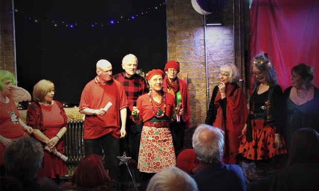 The Arcola Over 50s Group's Christmas Cabaret has now been adapted into a festive film. Photograph: Immediate Theatre