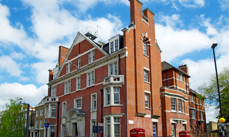 The building formerly known as Hackney Central Police Station