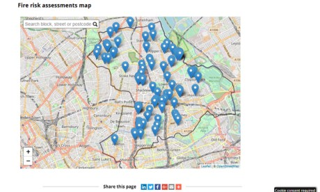 The council's FRA map, which links to the individual reports. Image: Hackney Council
