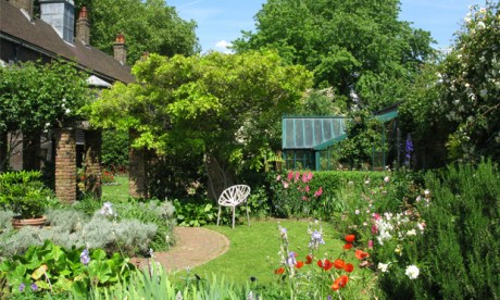A period of calm: The Geffrye Museum period gardens in summer. Photograph: Mandy Williams