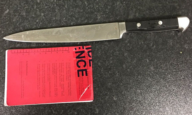 """Monster"": the knife involved in the Dalston row. Photograph: Met Police via Twitter"