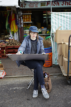 Lucinda Rogers at Ridley Road Market. Photograph: Patricia Niven