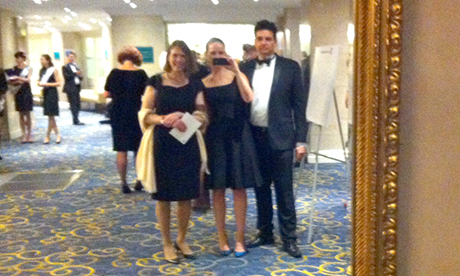 Ceremony selfie: Hackney Citizen at the 2014 Newspaper Awards. Photograph: Annalies Winny