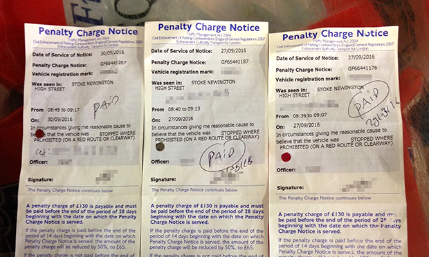 High street parking fines