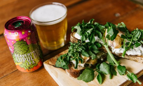 The Smoked Haddock toast, paired with Beavertown's Lupuloid.