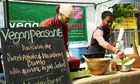 vegan peasant chatsworth road market