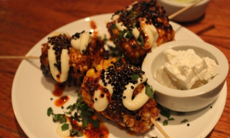 Corny: the charred cob was a highlight of the sides. Photograph: Jade King