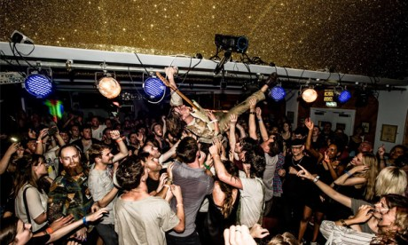 Uplifting: scenes from MOTH Club as last year's Visions raged to its conclusion. Images courtesy Rockfeedback