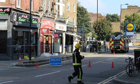 The parade of businesses in Well Street that has been closed