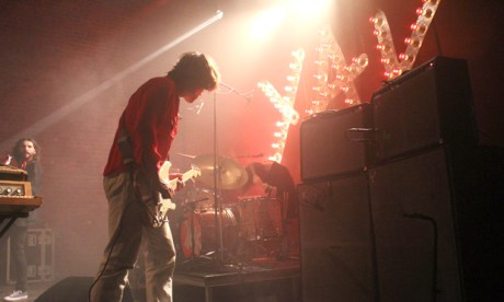 'Freak out jams': Yak in full flow on stage at Village Underground. Photographs: Casey Cooper-Fiske