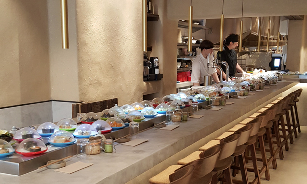 Japanese fusion: Yuzu's interior set up for dinner service