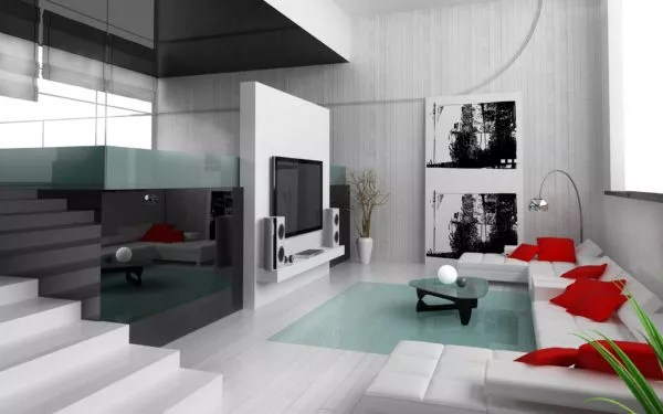 salon moderne chic