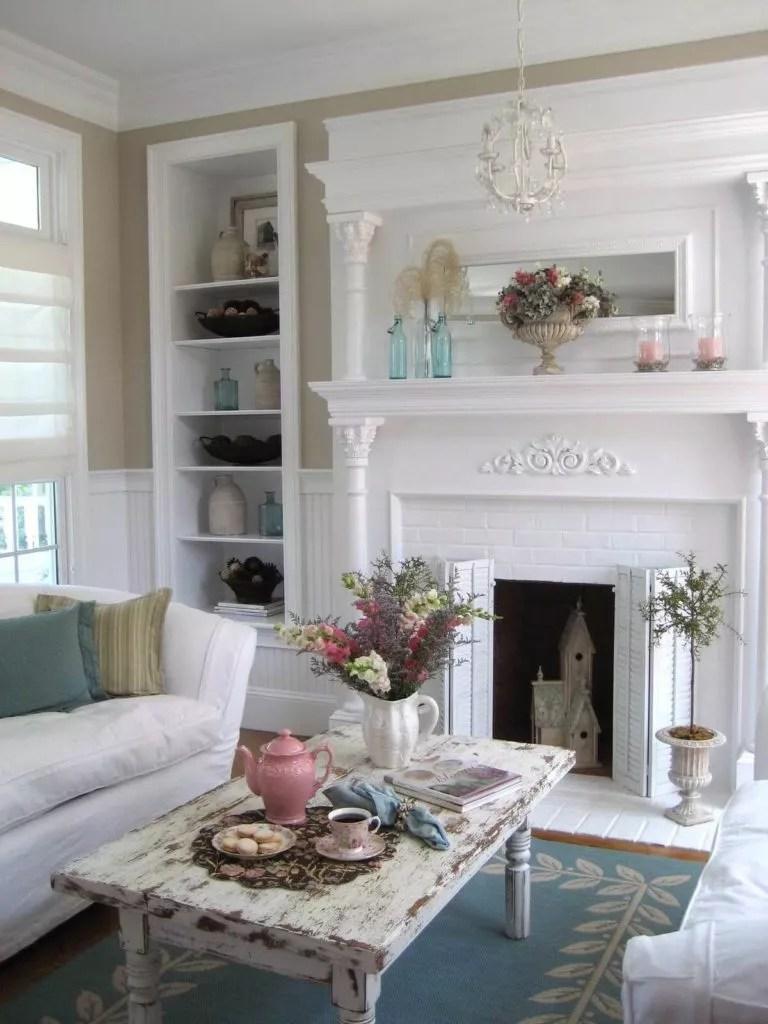 modern shabby chic living room design