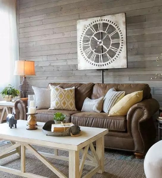 decoration of a taupe gray living room